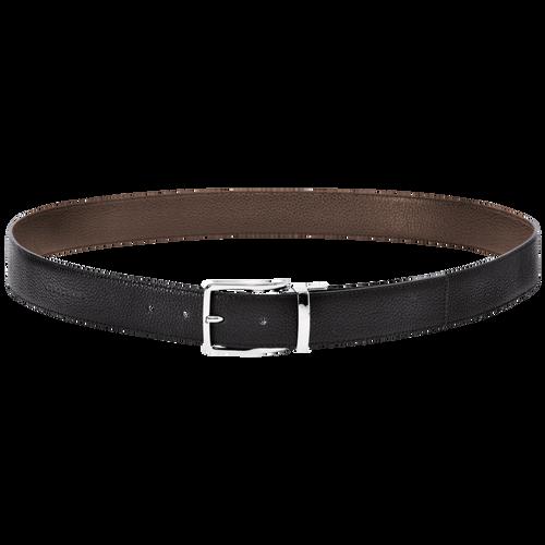 Men's belt, Mocha/Black, hi-res - View 1 of 1