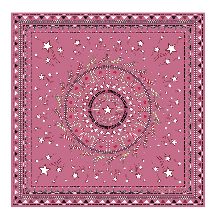 Fall-Winter 2021 Collection Silk scarf, Peony