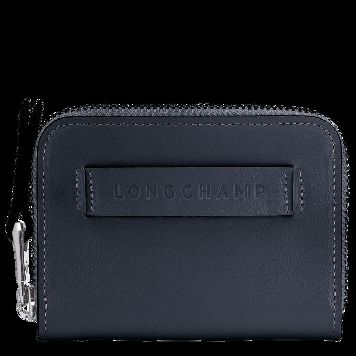 Longchamp 3D ファスナー付きカードケース, ミッドナイトブルー
