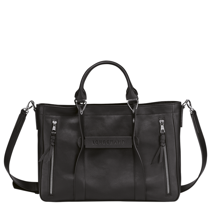 Longchamp 3D 手提包 M, 黑色