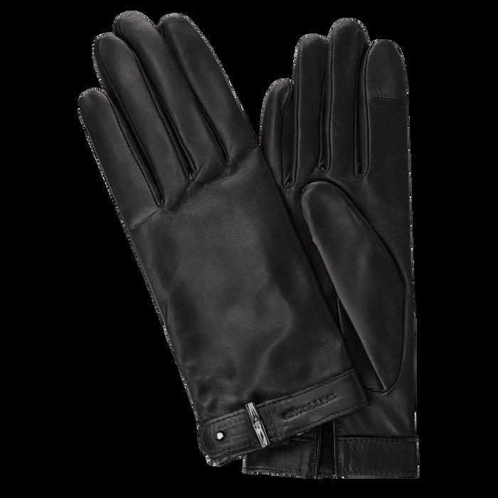 Damenhandschuhe, Schwarz/Ebenholz - Ansicht 1 von 1 - Zoom vergrößern