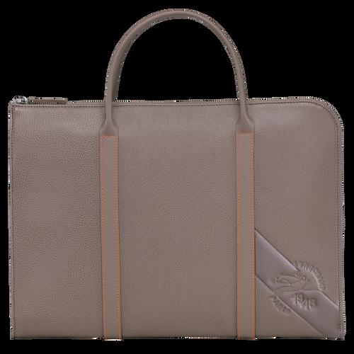 Le Foulonné Briefcase S, Taupe