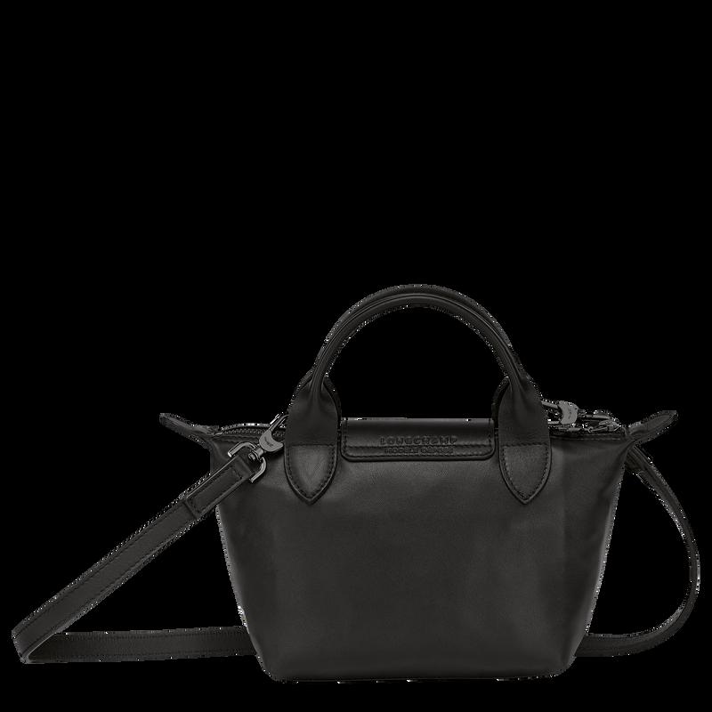 Longchamp x EU Top handle bag XS, Black