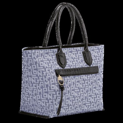 Top handle bag L, Blue - View 2 of  3 -