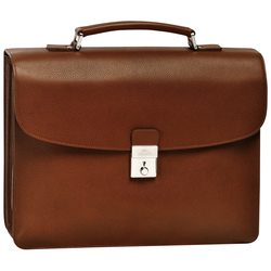 Briefcase M, 504 Cognac, hi-res