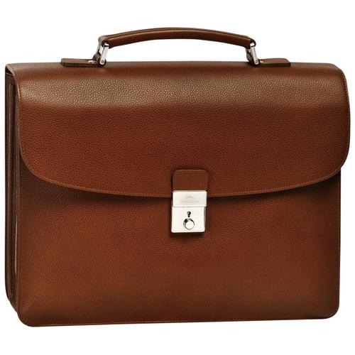 Briefcase M, 504 Cognac, hi-res