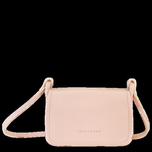 Wallet on chain Le Foulonné Pale pink (10133021P53) | Longchamp US