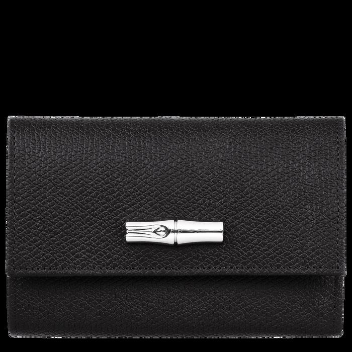 Kleine portemonnee, Zwart/Ebbenhout - Weergave 1 van  2 - Meer inzoomen.