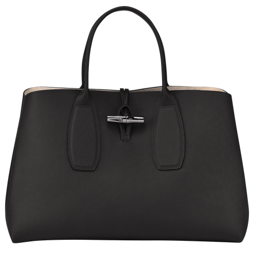 Top handle bag L, Black, hi-res - View 1 of 5