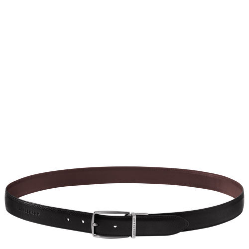 Men's belt, Mocha/Black, hi-res - View 1 of 1