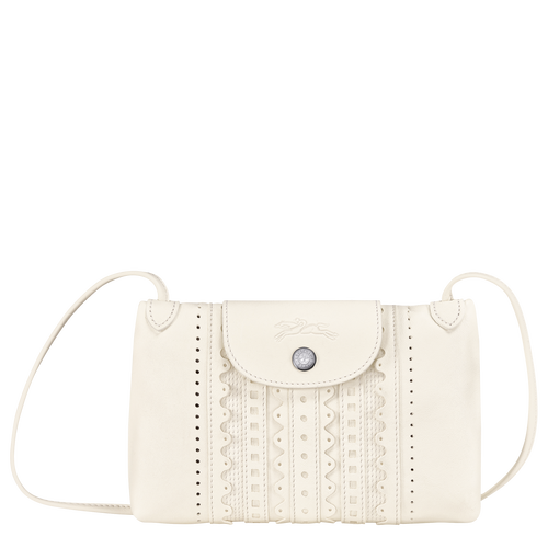 Le Pliage Cuir Crossbody bag, Ivory