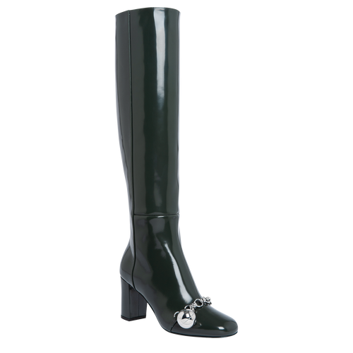 Boots, Longchamp Green - View 2 of  3 -
