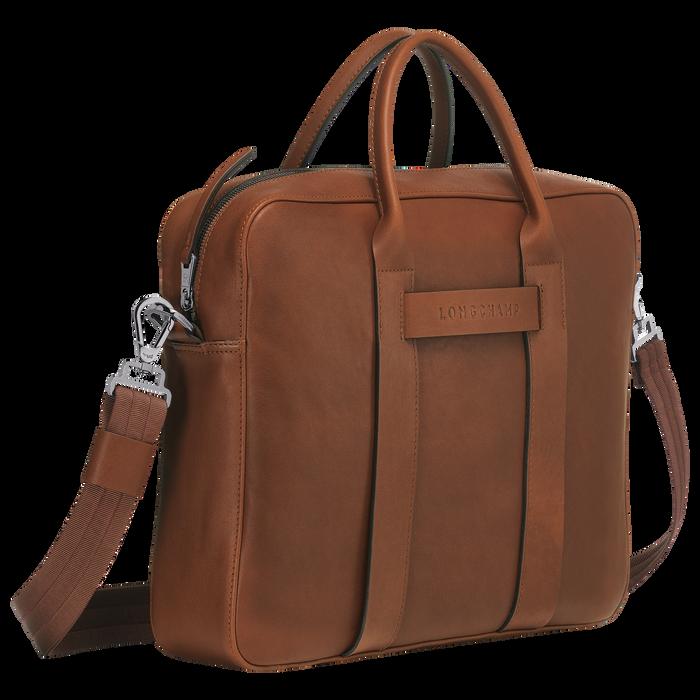 Longchamp 3D Briefcase M, Cognac