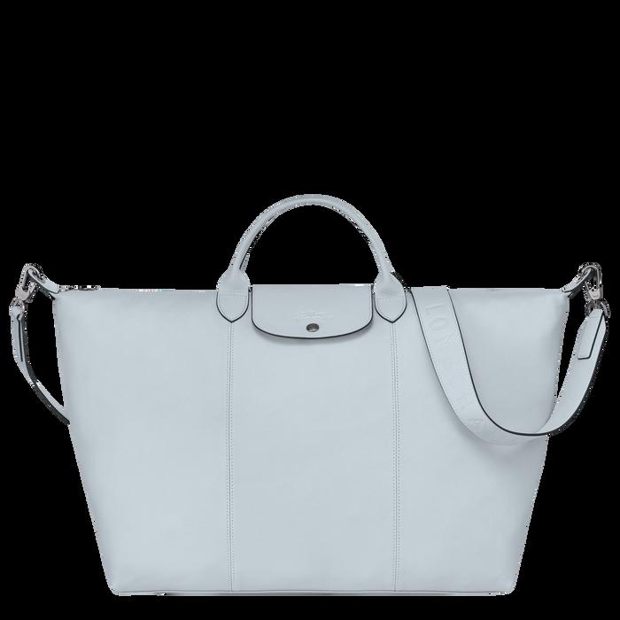 Le Pliage Cuir Travel bag L, Sky Blue
