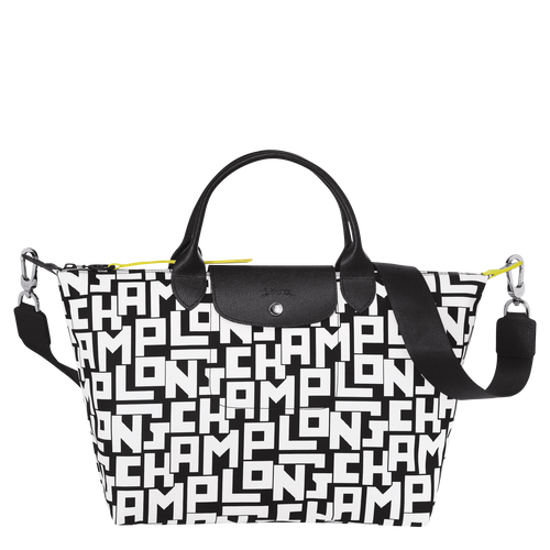 Top handle bag M, Black/White - View 1 of 4 -
