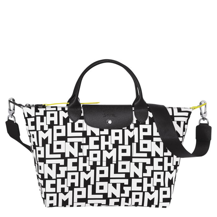 Top handle bag M, Black/White - View 1 of 4 - zoom in
