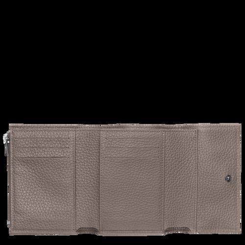 Brieftasche im Kompaktformat, Grau - Ansicht 2 von 2 -