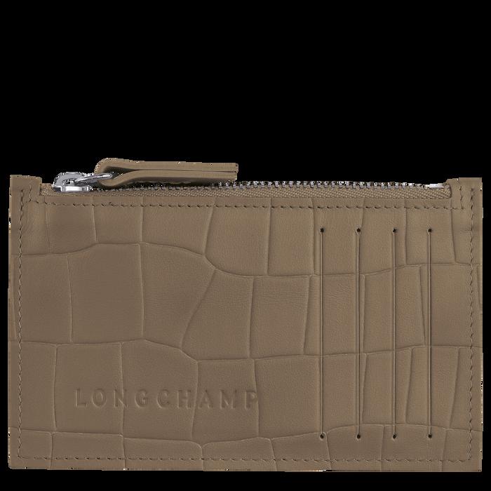 Croco Block Coin purse, Tobacco