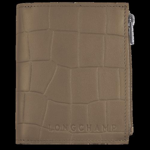 Croco Block Compact wallet, Tobacco