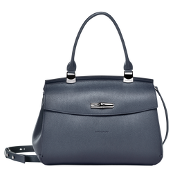 Top handle bag M, 006 Navy, hi-res