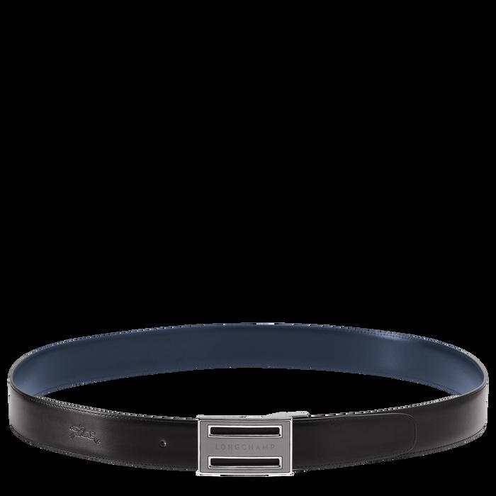 Delta Box Herenriem, Zwart/marineblauw