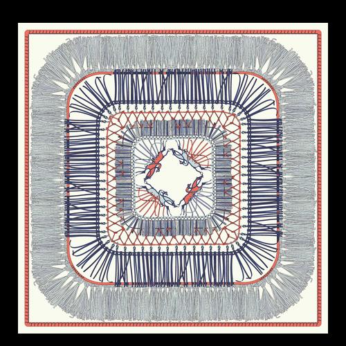 Colección primavera-verano 2021 Pañuelo de seda, Azul Claro