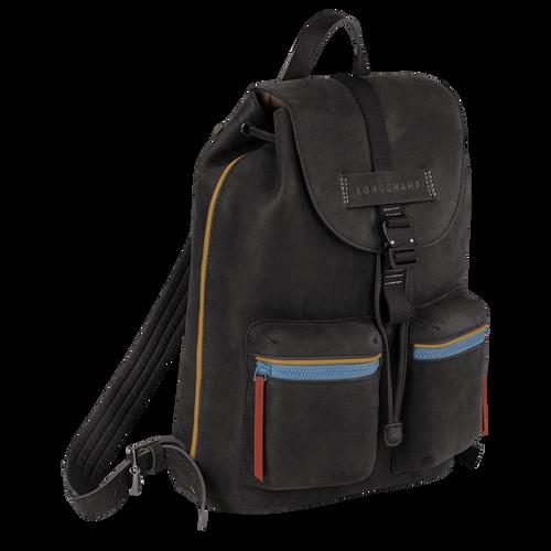 Longchamp 3D Backpack M, Gun metal
