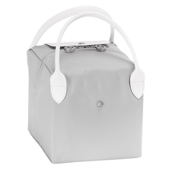 Handtasche S, E61 Grau/Weiss, hi-res