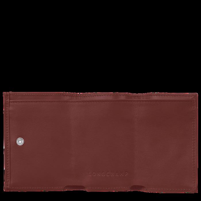 Roseau Compact wallet, Mahogany