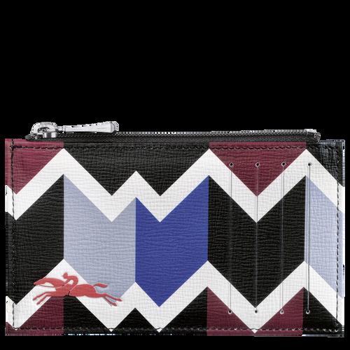 Portemonnaie, Mahagoni/Blau - Ansicht 1 von 2 -