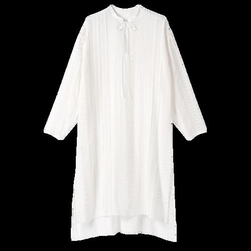 Colección primavera-verano 2021 Vestido midi, Blanco
