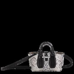 Top handle bag S, Black/White, hi-res
