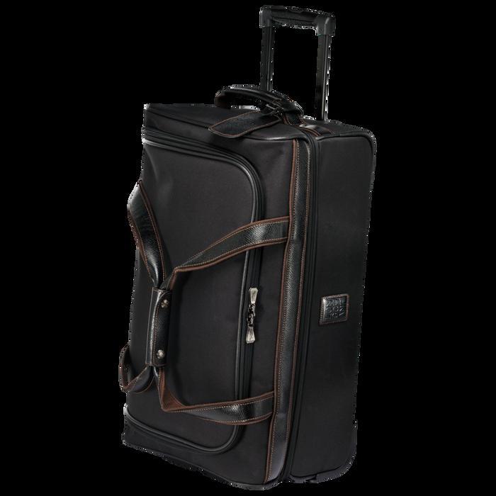 Reisetasche mit Rollen, Schwarz/Ebenholz - Ansicht 2 von 3 - Zoom vergrößern