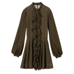 Dress, A23 Khaki, hi-res
