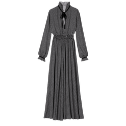 Long dress, 067 Black/White, hi-res