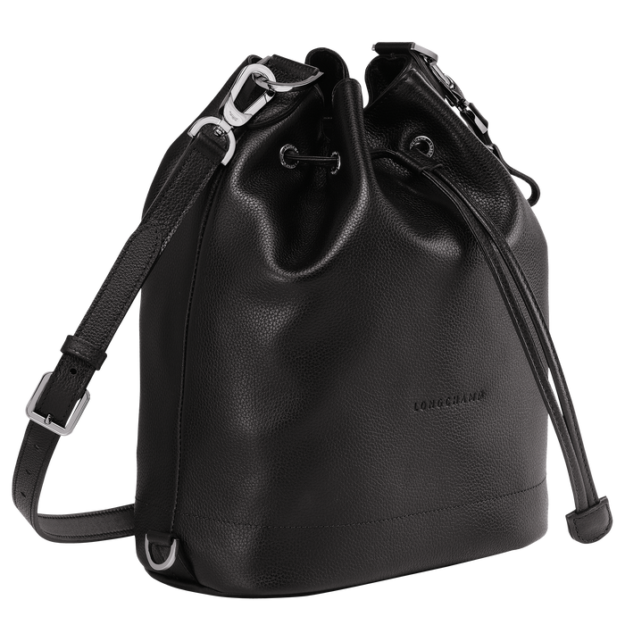 Le Foulonné Bucket bag M, Black