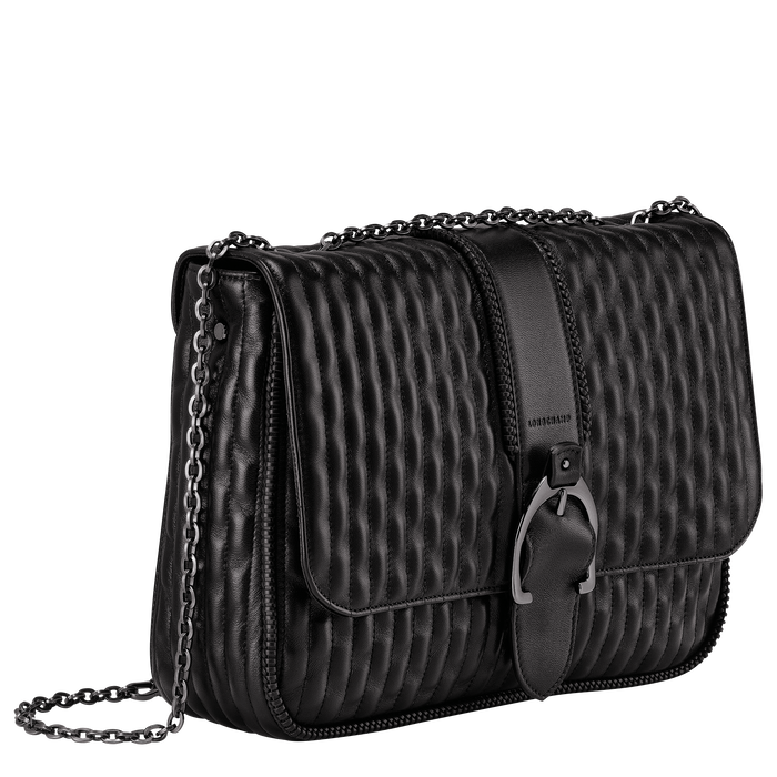 Crossbody bag L, Black/Ebony - View 2 of 3 - zoom in