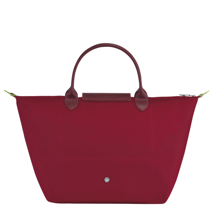 Le Pliage Green Top handle bag M, Red