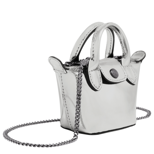 Crossbody bag XS, Silver - View 2 of  3 -