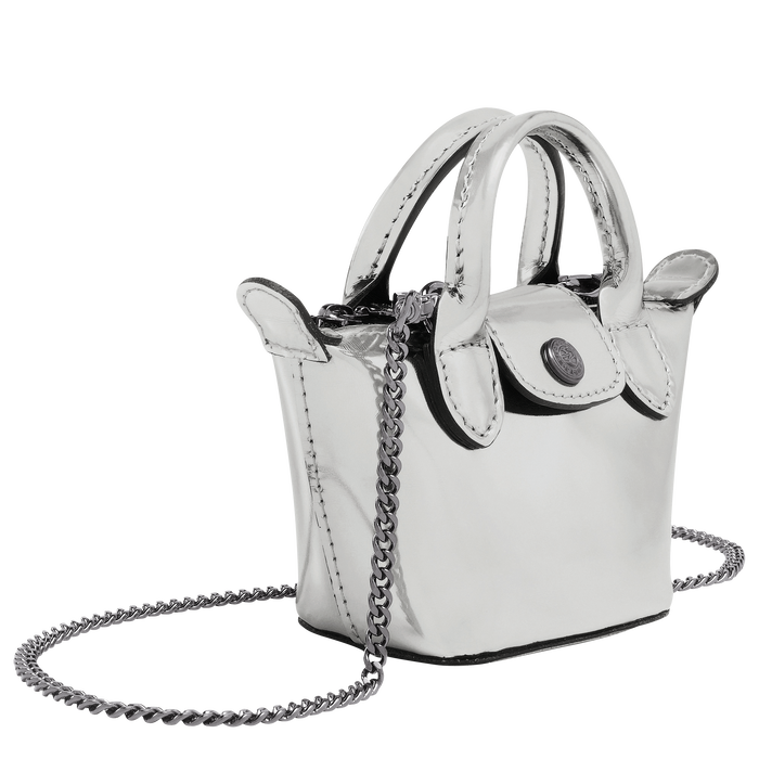 Crossbody bag XS, Silver - View 2 of  3 - zoom in