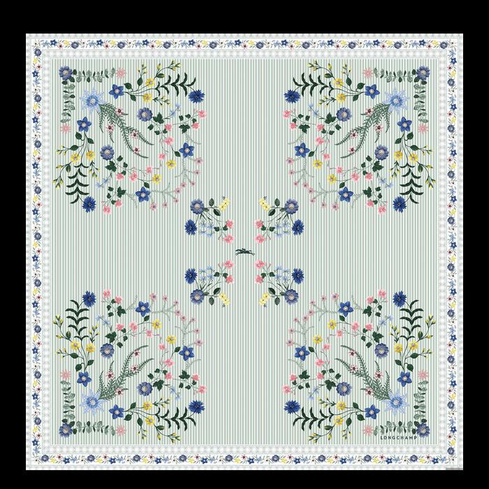 Spring-Summer 2021 Collection Silk scarf, Jade