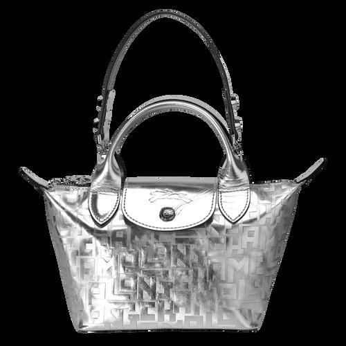 Mini sac porté main Le Mini Pliage Cuir Argent (L1500HNT023