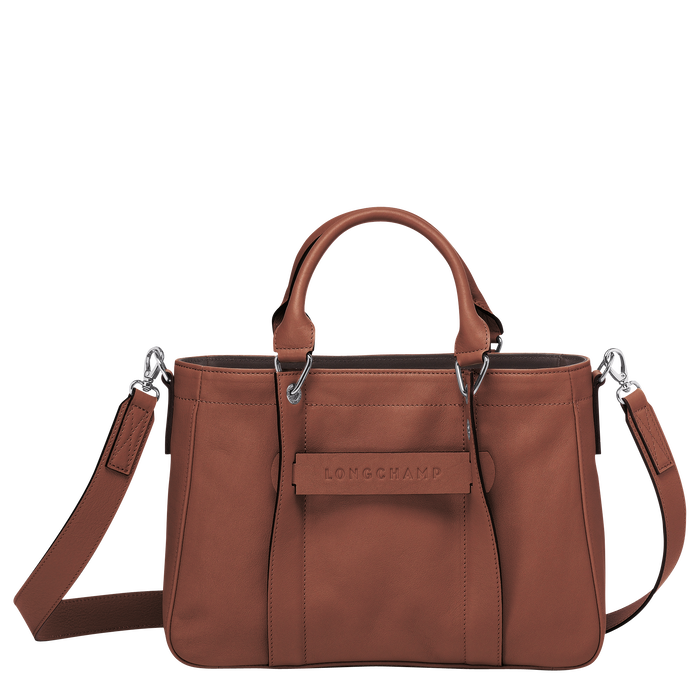 Longchamp 3D Sac porté main S, Cognac