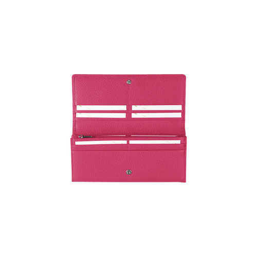 Long continental wallet, Pink/Silver - View 3 of  3 -
