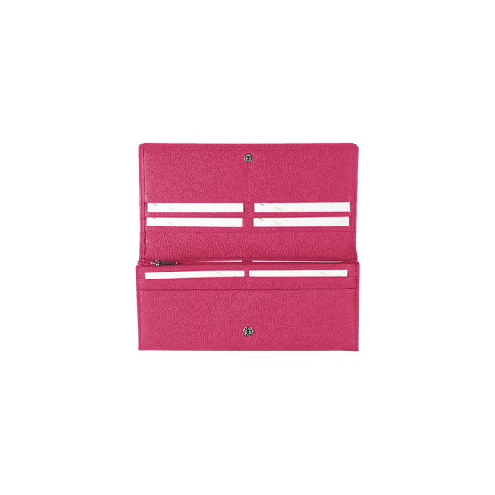Long continental wallet, Pink/Silver - View 3 of  3 - zoom in