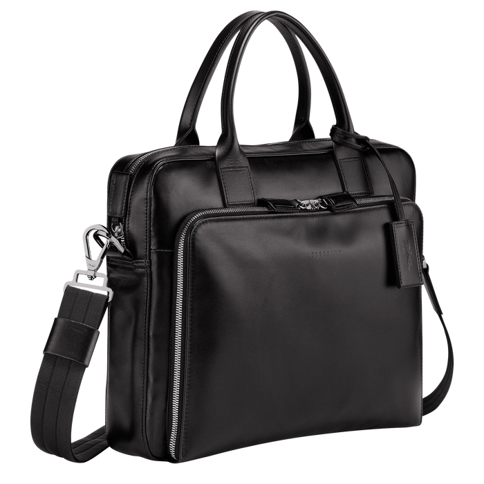 Briefcase S, Black/Ebony - View 2 of 3 - zoom in