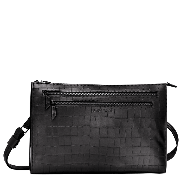 Croco Block Sac porté travers L, Noir