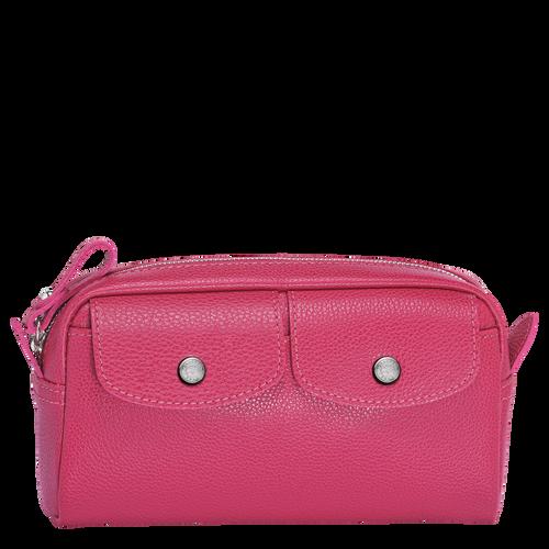 Le Foulonné Pouch, Pink/Silver