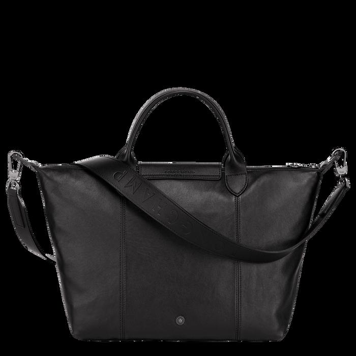 Top handle bag M, Black/Ebony - View 3 of  5 - zoom in