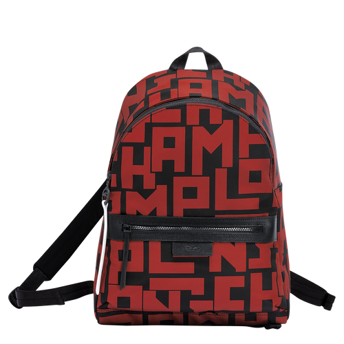 View 1 of Backpack M, Black/Brick, hi-res